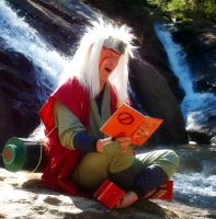 Jiraiya-Sama Gathers Info by littlecasaroo