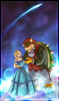Bowser and Rosalina - A Beast and Beauty by nokamarau