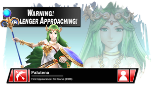 SSB4 Banner: Palutena by Pixiy