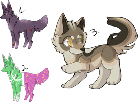 (CLOSED) Free Adoptables: Doggies by Acetylace-Adopts