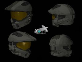 Halo 4 Master Chief's Helmet by Jamezzz92