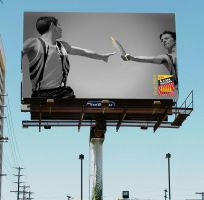 Corn holders campaign Billboard ad by H1ppym4n