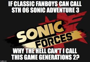 Sonic Forces = Sonic Generations 2 by knuckles20