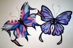 Butterfly Tattoo Design by JorddinCrawford