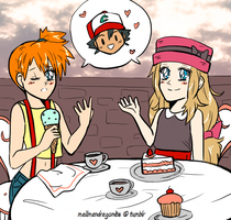 Commission: Misty and Serena by mailman-dragonite
