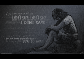 """I Don't Care"" Wallpaper by skittlediddler"
