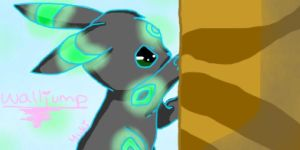 Walljump (Umbreon) by iFailAtEverything