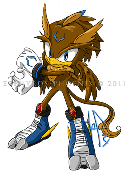 Sonic Chara: Payne the Griffin by Zephyros-Phoenix