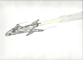 Hawker hunter style plane by tommow
