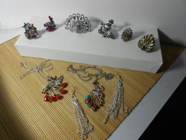 Peacock Jewelry Collection by MsCyberBird