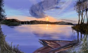 Speed Painting Lakeside by SorinCrecens