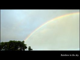 rainbow in the sky by mercy