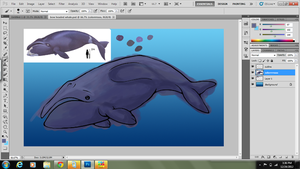 Bowheaded whale WIP by WolfxTracks