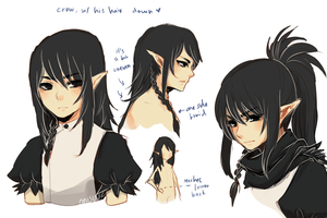 OCs -- Crow's Hair by onisuu
