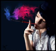 HD Vector: Glamour Smoking by roger-that007