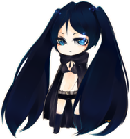 BLACK ROCK SHOOTER by yang-bang