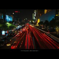 Bangkok City Night by LittleJean
