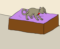 Jumpin off the bed o3o (finished) by Kiji-blu