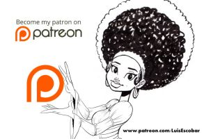 Patreon Ad Black and white by LuisEscobar