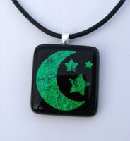 Custom Emerald Night Glass by FusedElegance