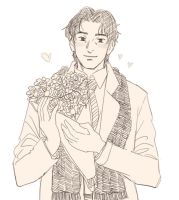 Just Tenma and some flowers by cloverinblue