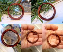 Hand Carved Cocobolo Wood Ouroboros by ValkyrieOfODIN