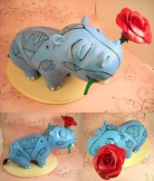 Valentine's Hippo by Blackash
