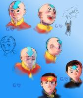 Aang sketches by Gorseheart