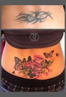 cover with flowers and butterfly by Karviniya