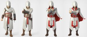 ALtair and Ezio avatars by jamt1989