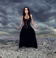 Sharon den Adel giantess calling a storm by ZituKX