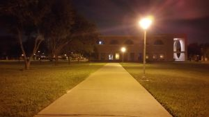 From Center of UTPA's Campus facing South (night) by TheRealCommissioner