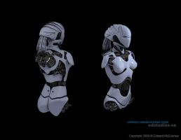 WIP Female Android BackView by EdwardMcEvenue