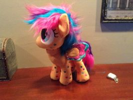 WIP rainbow power Scootaloo by Littlestplushoppe