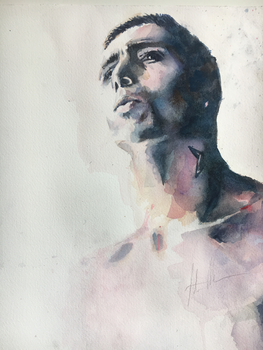Watercolor portrait by A1exanderArt