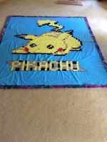 Pikachu blanket finished by dengbrecht