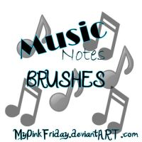 Music Notes Brushes by MyPinkFriday