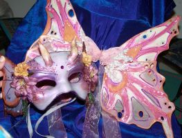 Fairy mask with wings by EMasqueradeGallery