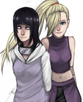 Ino and Hinata by rawdi-kun