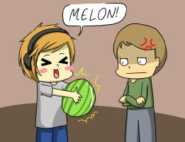 Trip Hates Melon! by MikaelaAnime