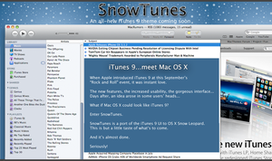 SnowTunes: iTunes 9 meets OS X by cristomac24