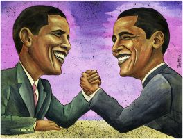 Obama's Toughest Opponent by BenHeine