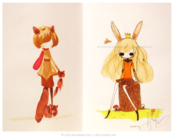 Sketchbook Project KBunny by j-b0x