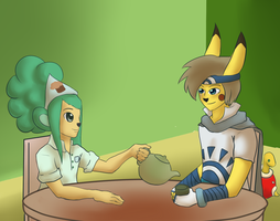 Tea Time with Adam by Black0Eternity