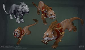 LoL: Nidalee Cougar form by MissMaddyTaylor