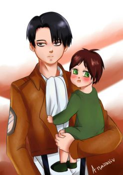 Baby Eren with Short Corporal by Anairativ