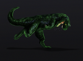 Day 12. The First Chameleon by WulfTheWolf