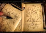 Thumbz-v05 pen sketches by MIKECORRIERO