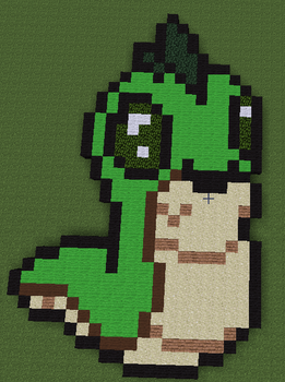 Minecraft Pixel Art: Baby Buzz from Neopets by ThisUserNameisFalse