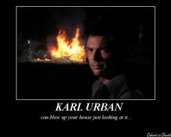 Karl Urban can blow you up by CABARETdelDIAVOLO